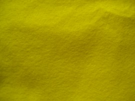5 Light Yellow Plant Dyed Organic Felt Sheet