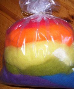 Rainbow Wool bag