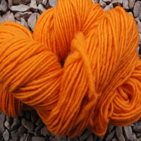 1840 Orange Pure Wool Knitting Yarn