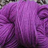 1843 Magenta Pure Wool Knitting Yarn