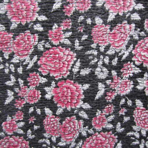 3mm Fabric On Soft Wool Felt Fuchsia