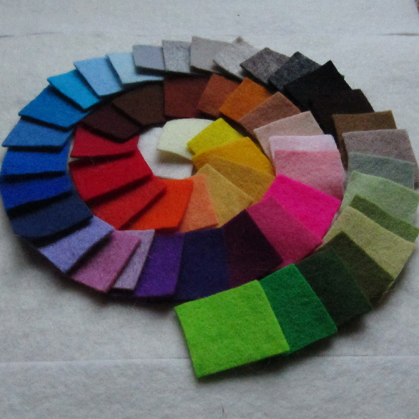 1.2 to 1.5mm Thick Wool Felt Samples