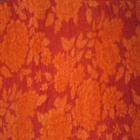 3mm Fabric On Soft Wool Felt Orange