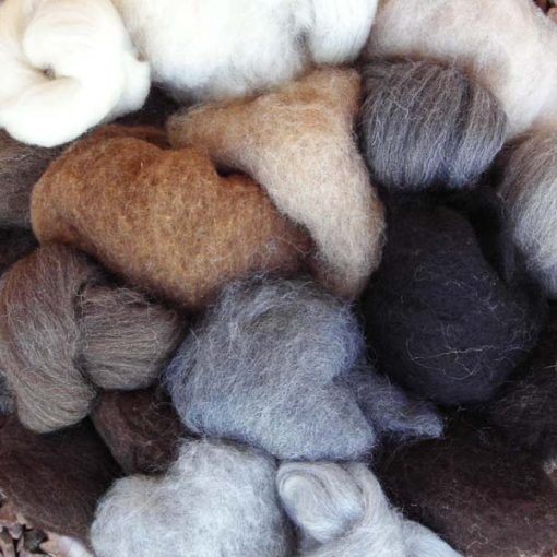 Natural Coloured Wool Fleece Bag 190g